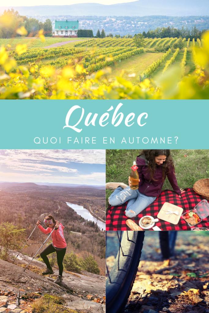Top expériences à faire en automne au Québec