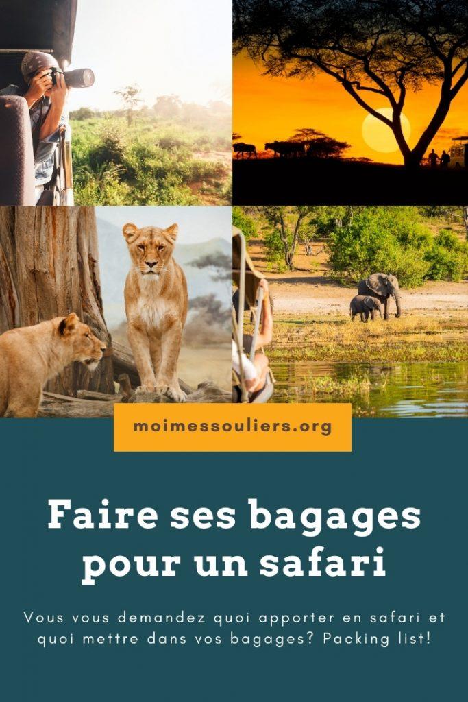 Faire ses bagages pour un safari en Afrique