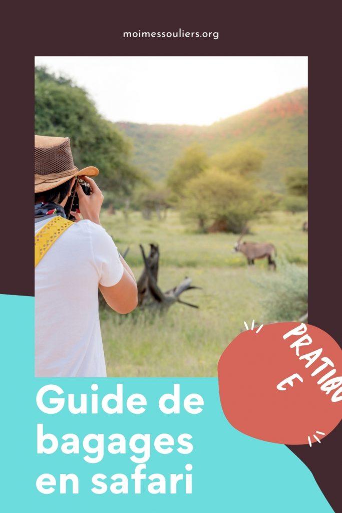 Guide de bagages en safari