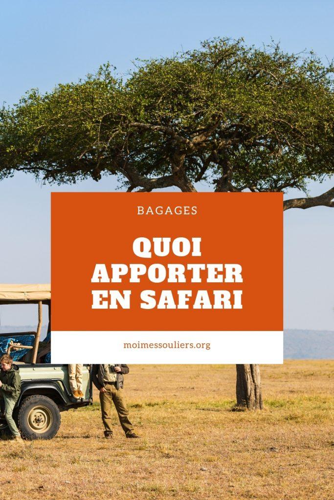 Quoi apporter en safari en Afrique