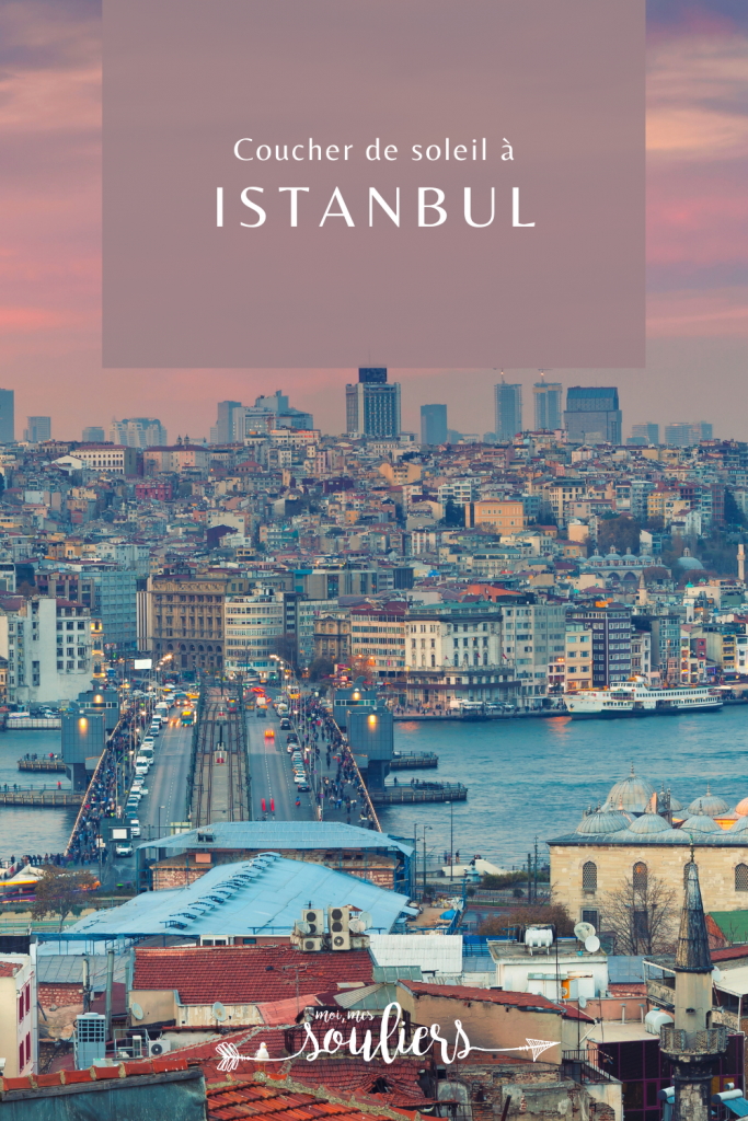 Coucher de soleil à Istanbul en Turquie