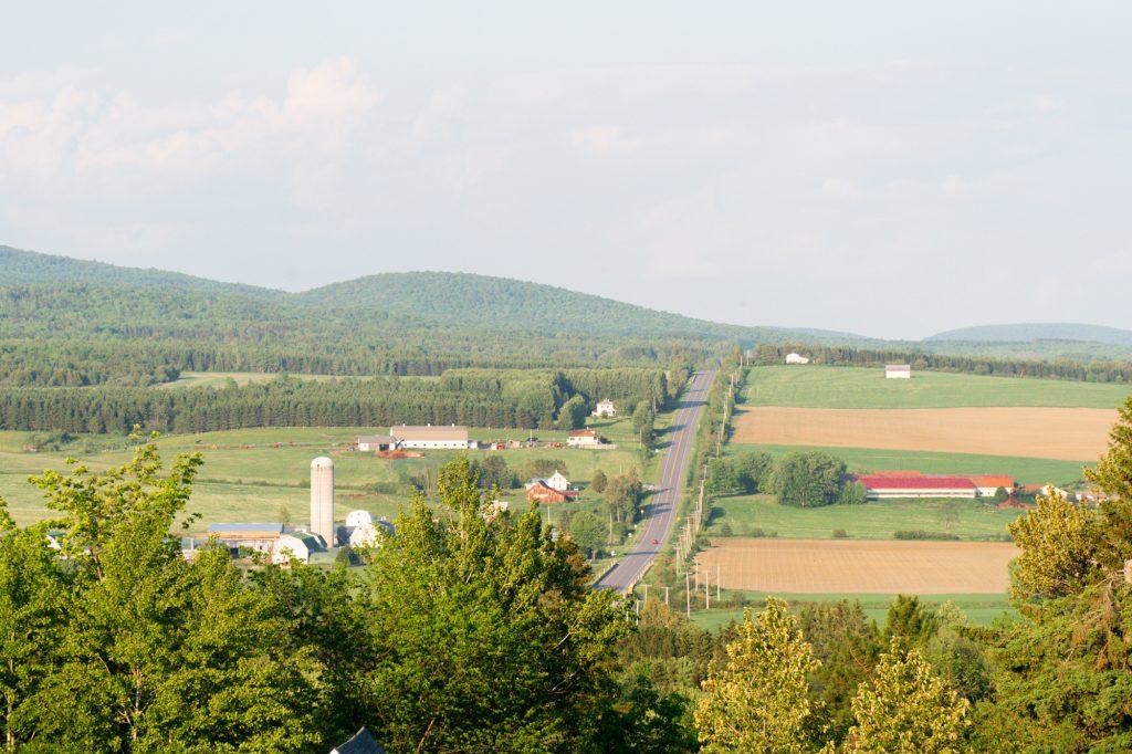 Vue de la shed La Patrie - Cantons-de-l'Est