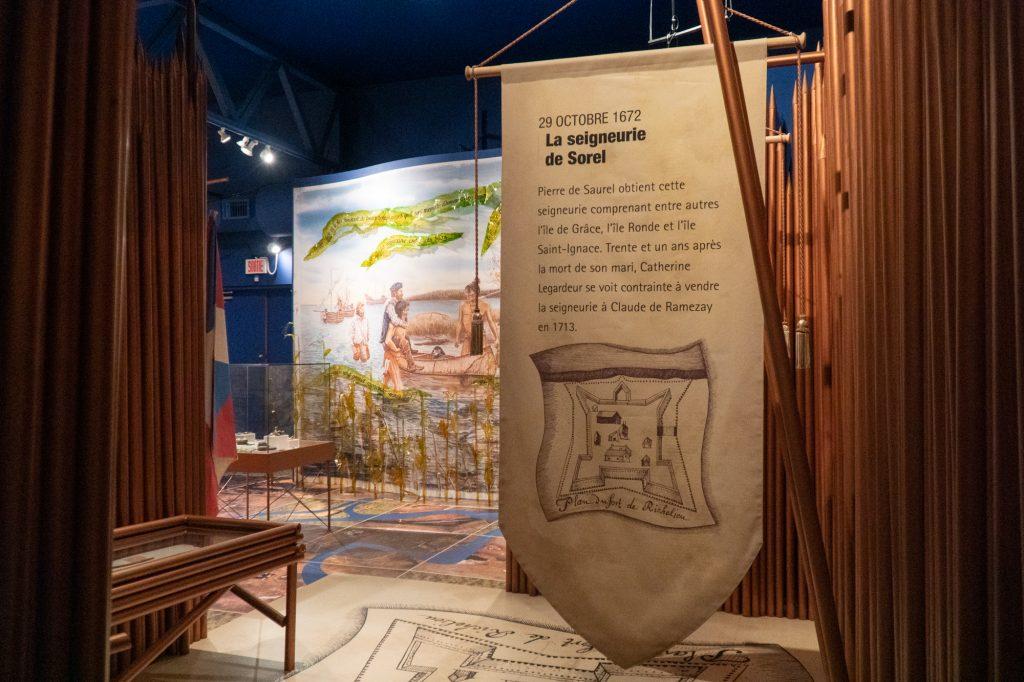 intérieur du musée Biophare - Histoire de la région de Sorel_Tracy