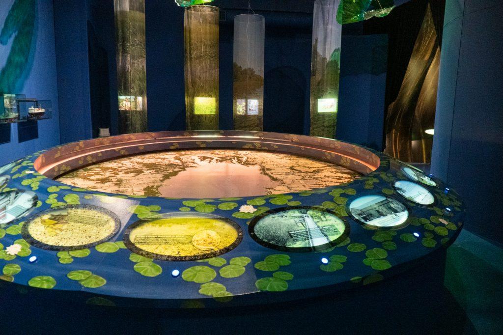 maquette de l'archipel des îles - Réserve mondiale de biosphère de l'UNESCO