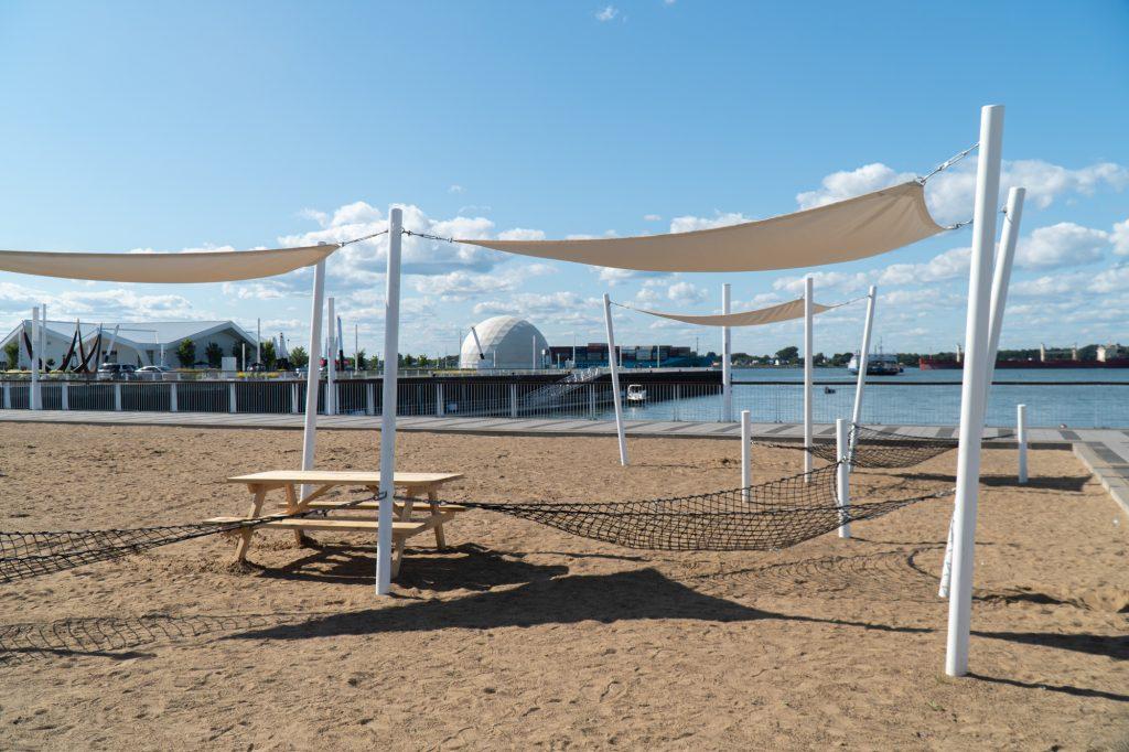 plage du parc Regard-sur-le-fleuve