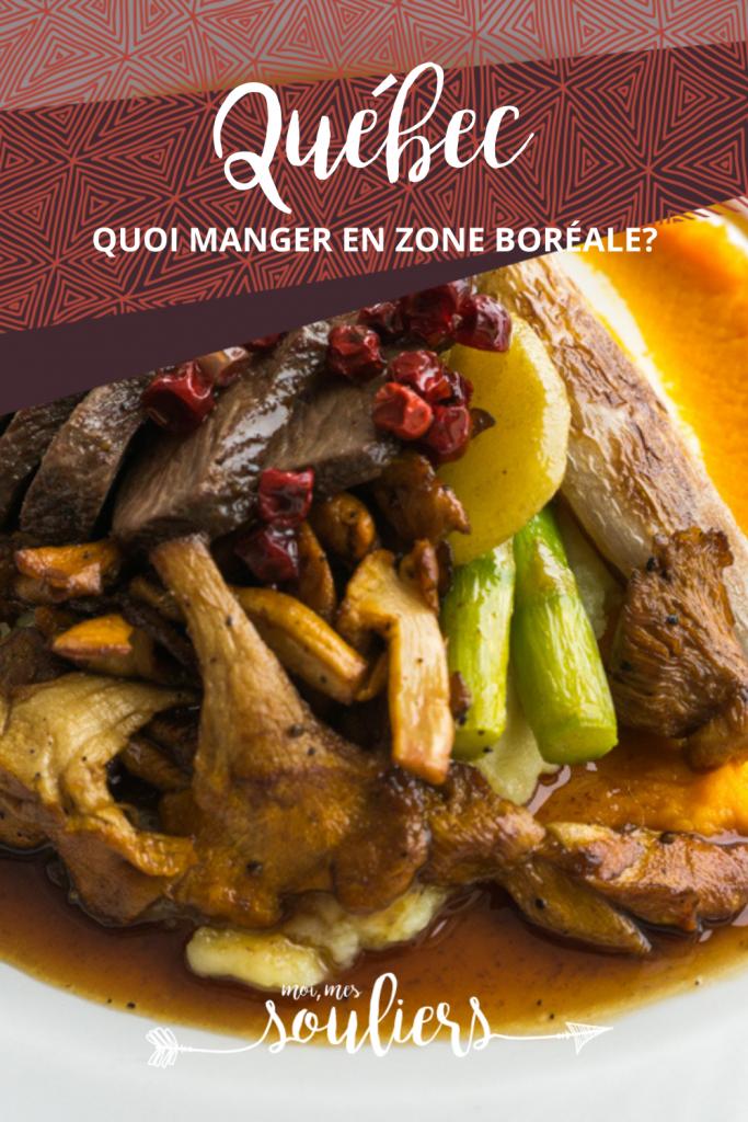 Quoi manger en zone boréale au Québec